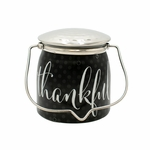 Thankful (Brown Butter Pumpkin) Jar 16 oz. Sentiments Special Edition Wrapped Butter Jar by Milkhouse Candle Creamery | Fall & Holiday Limited Edition  by Milkhouse Candle Creamery