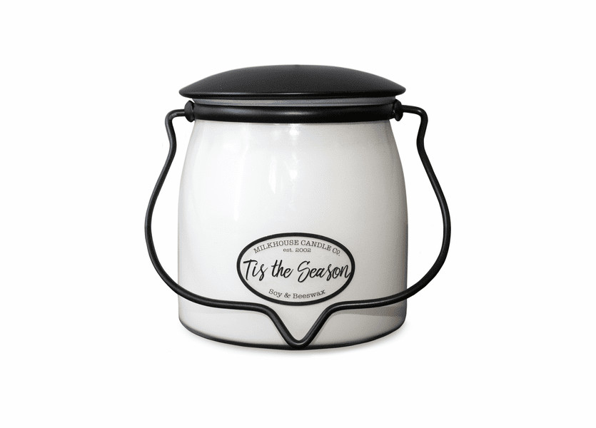 Tis The Season 16 oz. Butter Jar by Milkhouse Candle Creamery