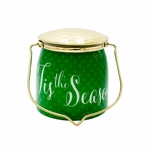 CLOSEOUT - Tis the Season Jar 16 oz. Sentiments Special Edition Wrapped Butter Jar by Milkhouse Candle Creamery | Milkhouse Candle Creamery Closeouts