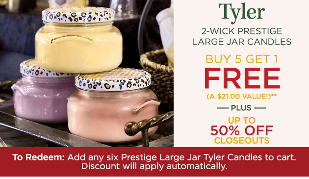 Tyler Candle Closeouts