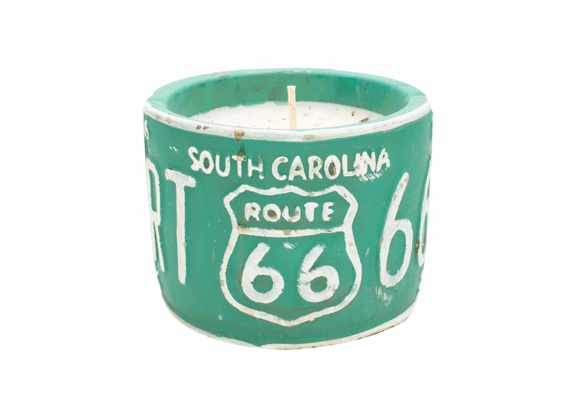 "Vanill Pound Cake American Highway ""South Carolina"" Round License Plate Pot Swan Creek Candle"
