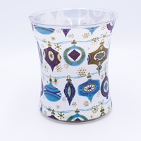 NEW! - Vanilla Bean Decal Glass WoodWick Candle