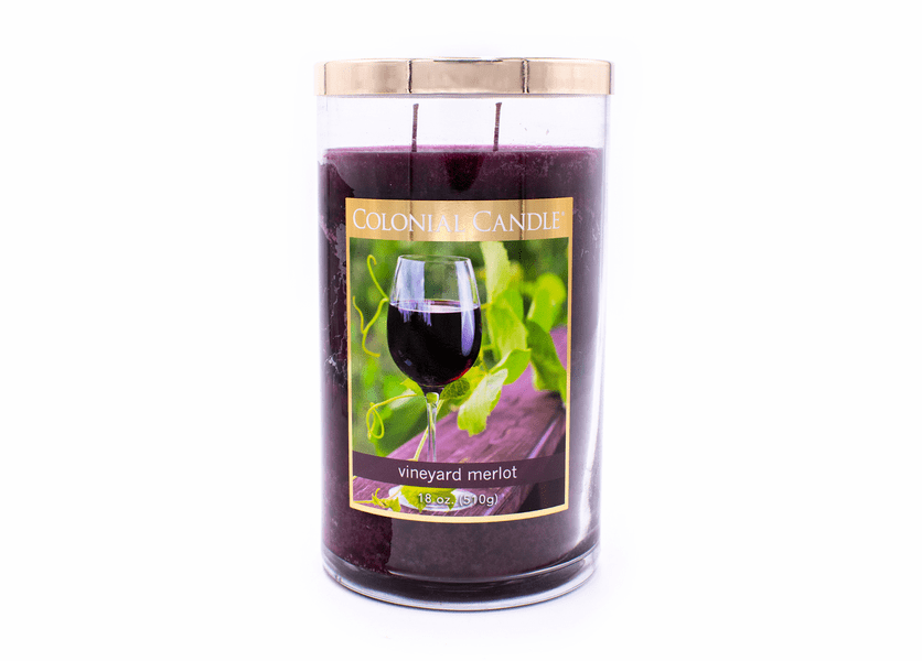 Vineyard Merlot 18 oz. Bronze Collection Colonial Candle