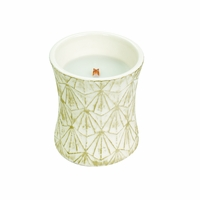 CLOSEOUT - Warm Wool Ceramic Hourglass WoodWick Candle