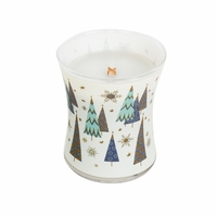 NEW! - Warm Wool Decal Glass WoodWick Candle