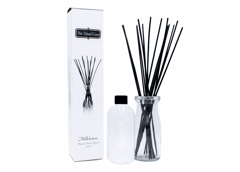 White Driftwood & Coconut Reed Diffuser Kit by Milkhouse Candle Creamery