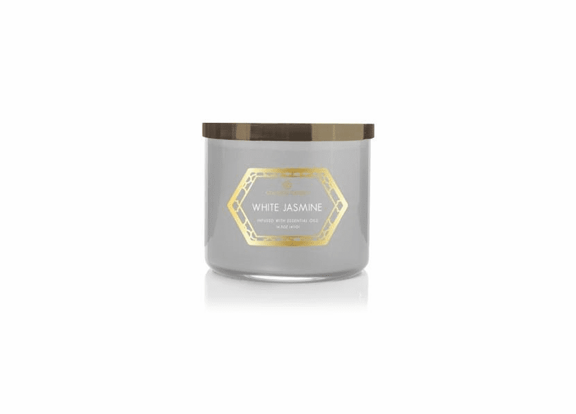 White Jasmine 14.5 oz. Luxe Trend Collection Colonial Candle