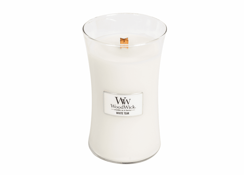 White Teak  WoodWick Candle 22 oz.