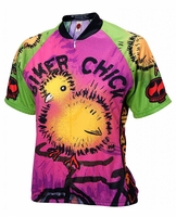 Biker Chick on a Bike Womens Cycling Jersey