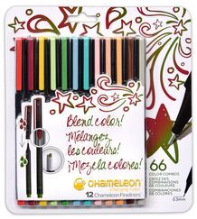 Chameleon Fineliner Set of 12- Designer Colors