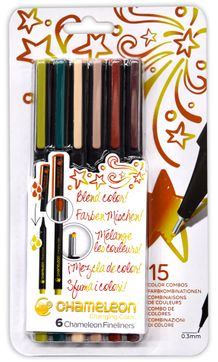 Chameleon Fineliner Set of 6- Nature Colors