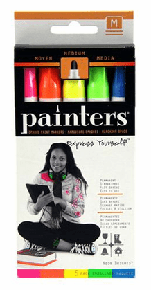 Elmers Painters - Neon Colors Medium Tip Set of 5