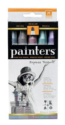 Elmers Painters - Metallic Shimmer Colors Medium Tip Set of 5