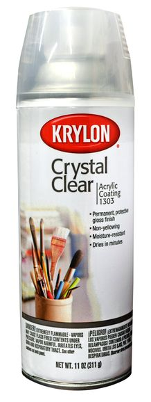 Krylon Crystal Clear Acrylic Coating, 11oz Spray-On
