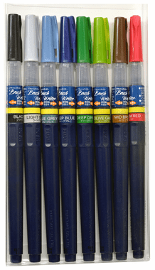 Kuretake Brush Writer Deep Set of 8