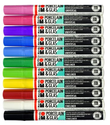 Marabu Porcelain & Glass Paint Markers