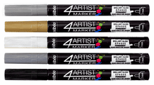 Pebeo 4ARTIST Markers- 2mm Outline Set