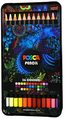 Posca Oil-Based Colored Pencil Set of 36