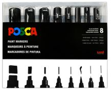 Posca Tip Variety Set- All Black