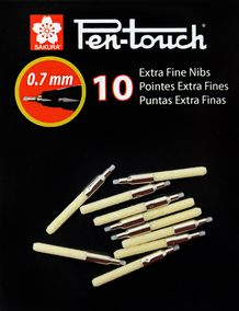 Sakura Pen-touch Replacement Tips- Extra Fine- Pack of 10