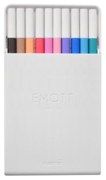 Uni Emott Ever Fine Color Liner Set of 10- #2 Soft Colors