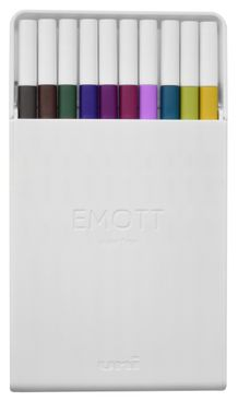 Uni Emott Ever Fine Color Liner Set of 10- #3 Jewel Colors