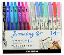 Zebra Journaling Set- Mildliner/Sarasa 14 Pack