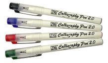 Zig Calligraphy Square 2mm - 4 Color Set