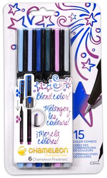 Chameleon Fineliner Set of 6- Cool Colors