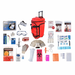 1 Person Elite Survival Kit in a Wheel Bag