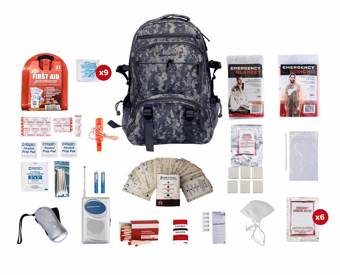 1 Person Survival Kit (72 Hours) in a Camo Bag