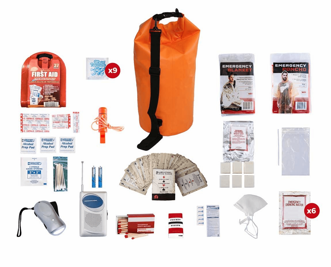 1 Person Survival Kit (72 Hours) in a Dry Water Proof Bag