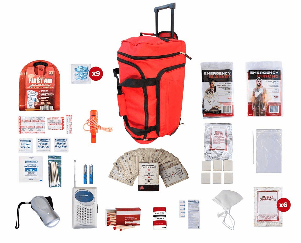 1 Person Survival Kit (72 Hours) in a Wheel Bag