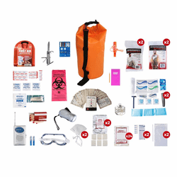 2 Person Deluxe Survival Kit (72 Hours) in Water Proof Dry Bag