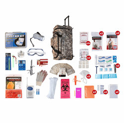2 Person Elite Survival kit in a Camo Wheel Bag