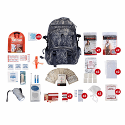 2 Person Survival Kit (72 hours) in A Camo Backpack