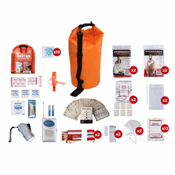 2 Person Survival Kit (72 Hours) in a Water Prof Dry Bag