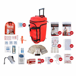 2 Person Survival Kit (72 Hours) in a Wheel Bag