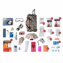 4 Person Elite Survival Kit in Camo Wheel Bag (72 Hours)