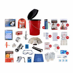 5 Person Elite Bucket Disaster Survival Kit (72 Hours)
