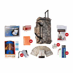 Blackout Emergency Kit Camo Wheel Bag