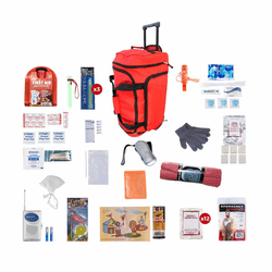 Children's Survival Kit in a Red Wheel Bag (72 Hours)