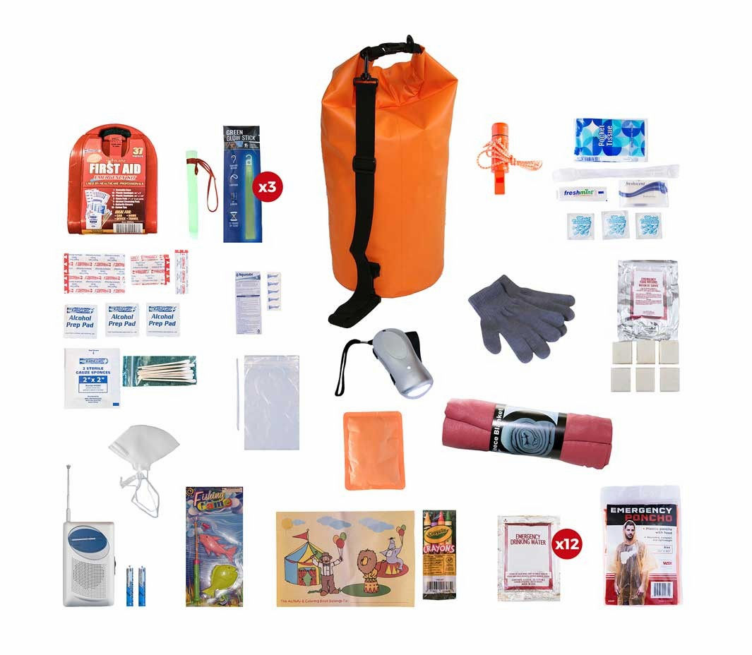 Children's Survival Kit in a Waterproof Dry Bag (72 Hours)