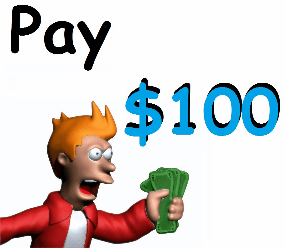 1 payment + $4 service fee