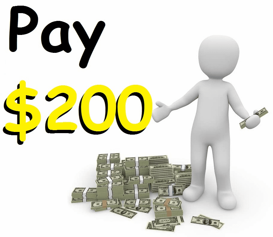 2 Payments + $6 service fee
