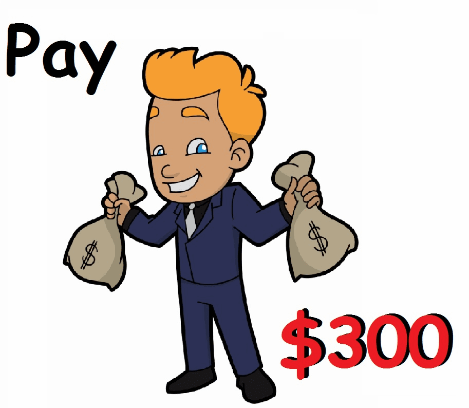 3 Payments + $8 service fee
