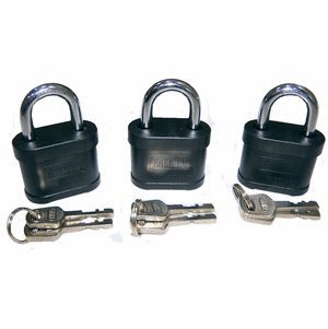 Rack'em keyed alike Security Padlocks