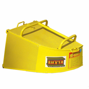 RC-B4 <br>Steel Grass Catcher<br>Yellow  <br>Large Capacity 4.4 Cu Ft