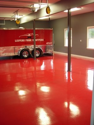 Epoxy flooring types