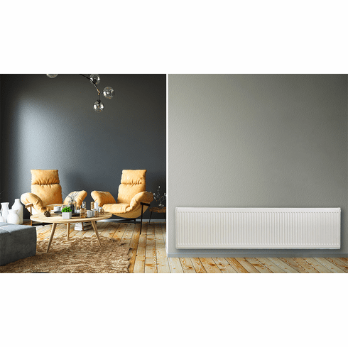 """16"""" x 64"""" Pensotti Double Steel Panel Radiator Package"""